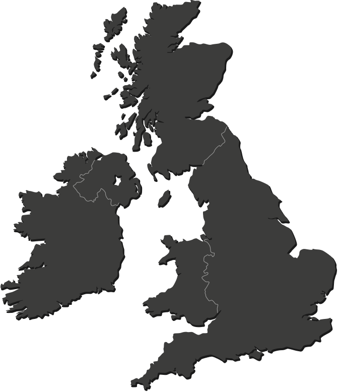 AA Careers Locations Map of Britain
