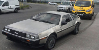 The AA Careers Delorean