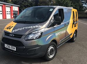 The AA Careers Spot The Van