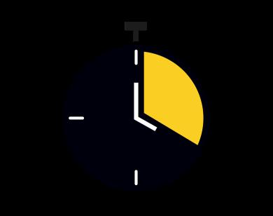 The AA Careers clock